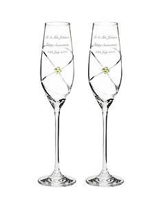 personalised-anniversary-champagne-flutes-with-swarovski-elements