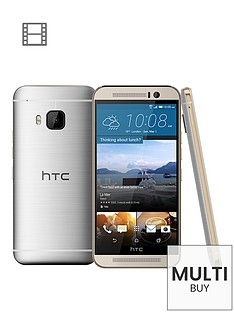 htc-one-m9-32gb-goldsilver-with-free-htc-one-m9-dot-view-ice-case-in-turquoise