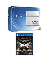 500GB White Console + Batman: Arkham Knight + FREE DriveCub & The Last Of Us: Remastered