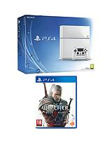 500Gb White Console with The Witcher 3: Wild Hunt and Optional 12 Months Playstation Plus and extra Dualshock 4 Controller