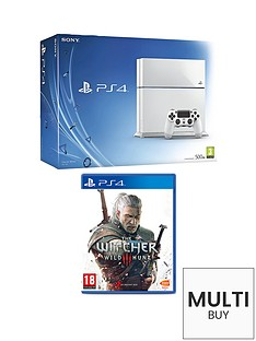 playstation-4-500gb-white-console-with-the-witcher-3-wild-hunt-and-optional-12-months-playstation-plus-and-extra-dualshock-4-controller