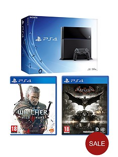 playstation-4-500gb-black-console-batman-arkham-knight-the-witcher-3-wild-hunt-free-driveclub-the-last-of-us-remastered