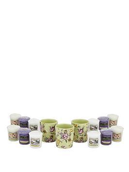 yankee-candle-3-vintage-floral-votive-holders-and-12-classic-votive-set