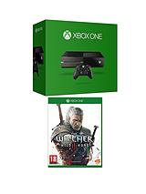 Console (No Kinect) with The Witcher 3 and Optional Extra Official Controller and 12 Months Xbox Live