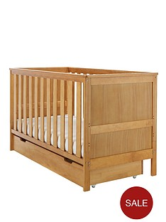 obaby-newark-cot-bed-and-under-drawer