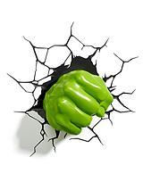 3D Hulk Fist Wall Light