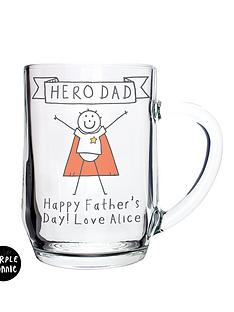 purple-ronnie-personalised-superhero-dad-glass-tankard