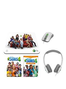 pc-games-sims-4-game-with-sims-4-get-to-work-expansion-pack-sims-4-gaming-headset-mouse-and-mouse-mat