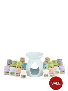 yankee-candle-blue-melt-warmer-with-18-limited-edition-wax-melt-collection