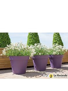 la-hacienda-set-of-3-x-40cm-eco-friendly-capri-pots-purple