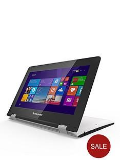 lenovo-yoga-300-intelreg-celeronreg-processor-2gb-ram-32gb-storage-116-inch-touchscreen-2-in-1-laptop-with-optional-microsoft-office-365-personal-white