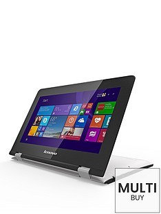 lenovo-yoga-300-intelreg-celeronreg-processor-2gb-ram-32gb-storage-116-inch-touchscreen-2-in-1-laptop-with-optional-microsoft-office-365-personal-white