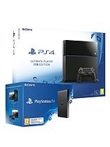 1Tb Console with FREE PlayStation TV and Optional Extra DualShock 4 Controller and 12 Months Playstation Plus