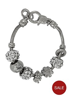 silver-tone-multi-bead-with-crystal-charm-bracelet