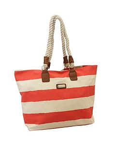 kangol-beach-bag-coral-stripe