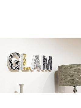 ARTHOUSE Glam Wooden Blocks Wall Art