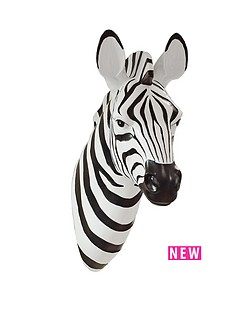 zebra-wall-plaque