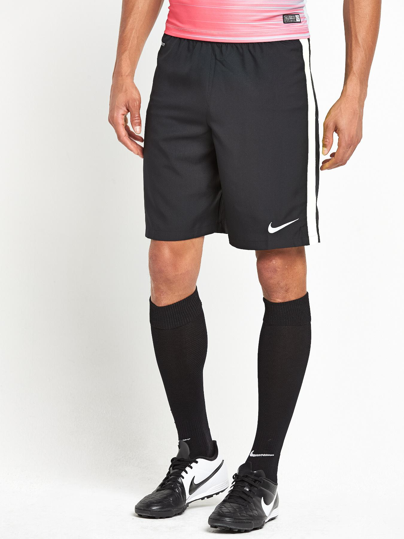 Nike Mens Squad Strike Longer Woven Shorts - Black, Black at Very, from Littlewoods