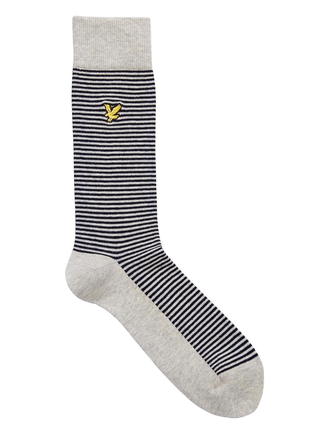 Lyle & Scott Mens Stripe Socks - Navy, Navy