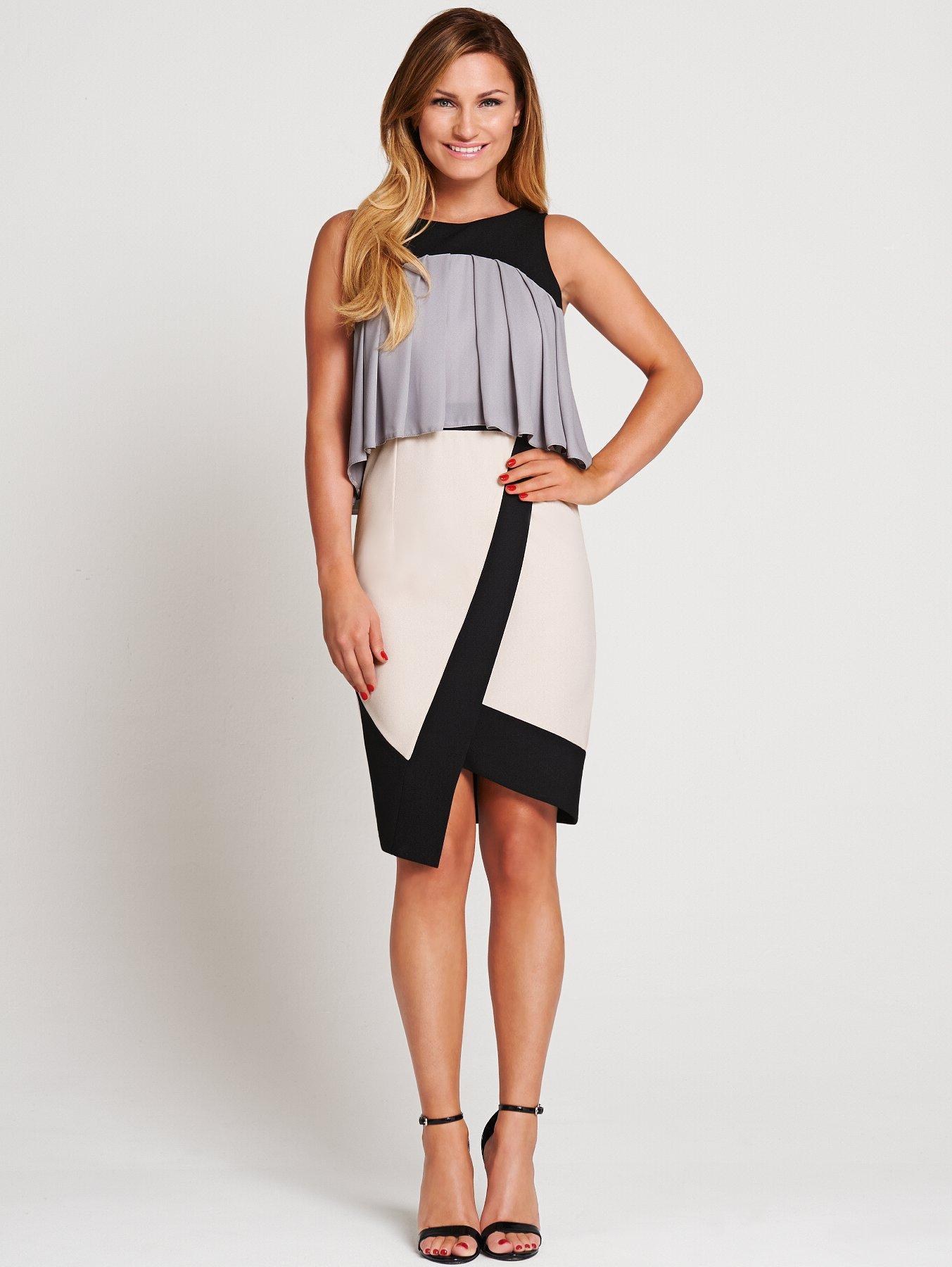 Samantha Faiers Frill Asymmetric Dress.