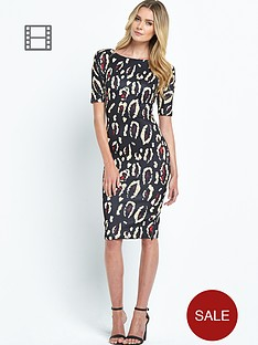 ax-paris-animal-print-scuba-midi-dress