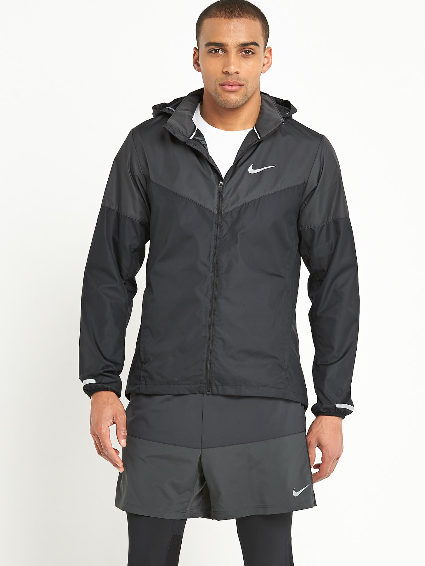 Nike Mens Vapor Running Jacket - Black, Black
