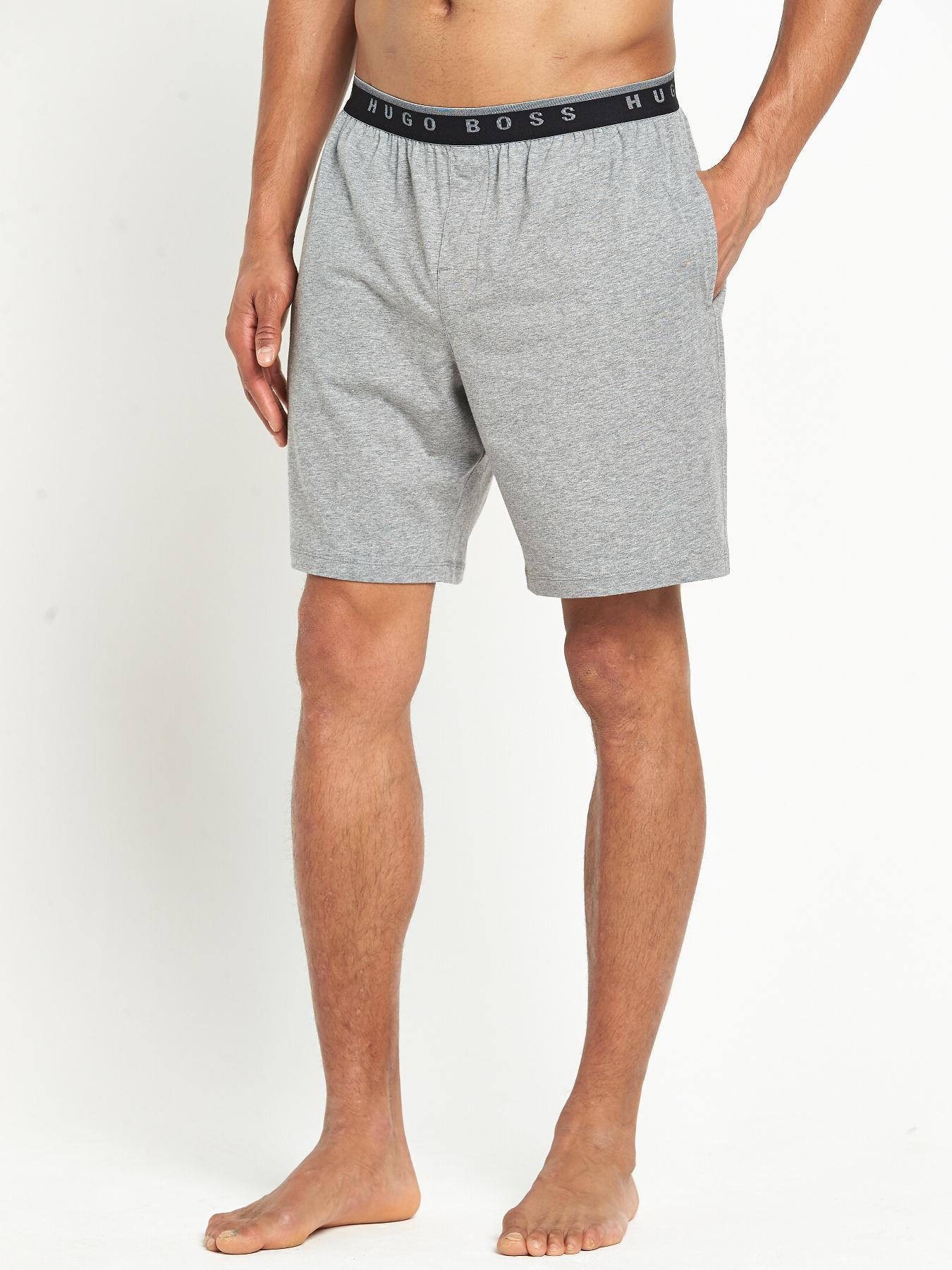 Hugo Boss Mens Jersey Shorts - Grey, Grey