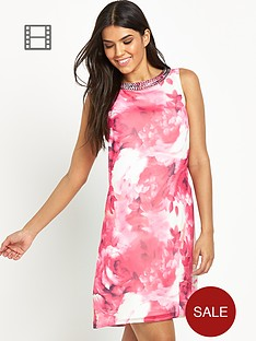 little-mistress-floral-embellished-neck-shift-dress