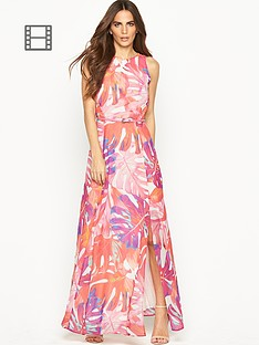 wallis-palm-belted-maxi-dress