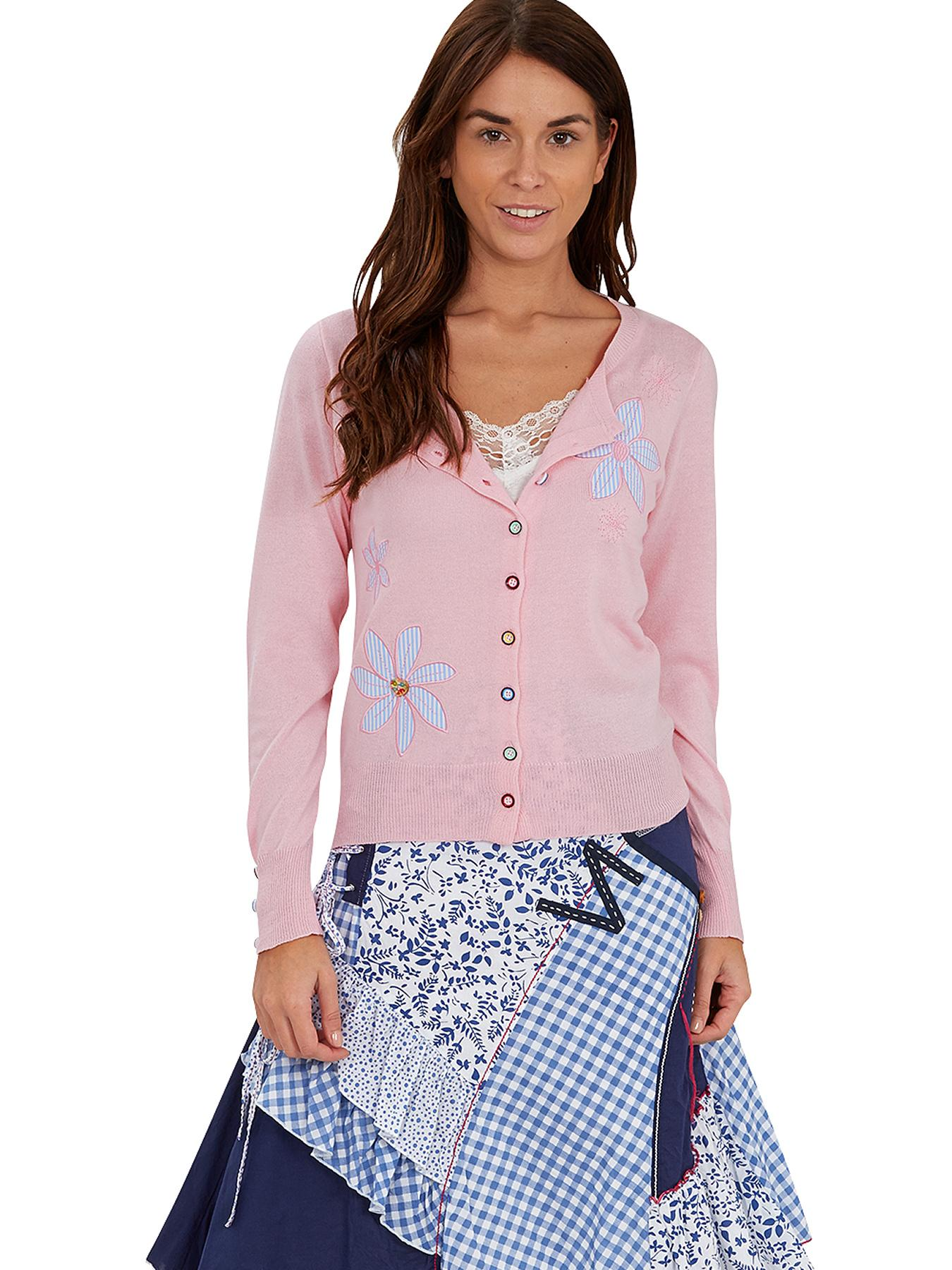 Joe Browns Vintage Applique Cardigan - Pink, Pink