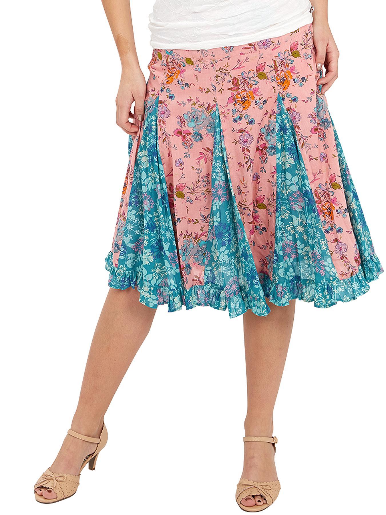 Joe Browns Glorious Godet Skirt - Pink, Pink