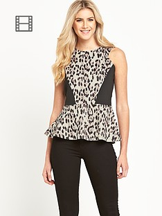 love-label-animal-print-peplum-top