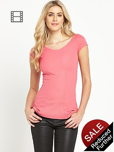 definitions-textured-wide-v-neck-top