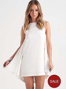 lauren-pope-white-cape-dress