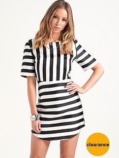lauren-pope-monochrome-stripe-dress