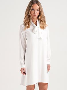lauren-pope-pussy-bow-shirt-dress