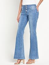 High Waisted Kickflare Jeans