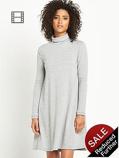 vila-vivang-polo-neck-jersey-dress