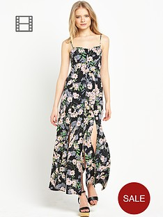 miss-selfridge-button-through-floral-split-maxi-dress