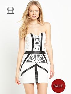 miss-selfridge-metallic-print-body-con-dress