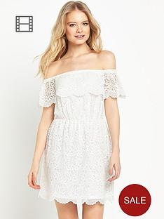 miss-selfridge-lace-bardot-dress