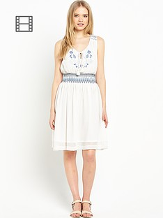 miss-selfridge-shirred-waist-dress