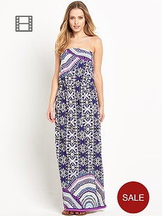 south-bandeau-tile-print-maxi-dress