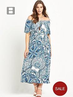 so-fabulous-angel-sleeve-jersey-boho-print-maxi-dress