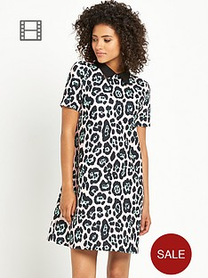 south-leopard-print-collared-tunic