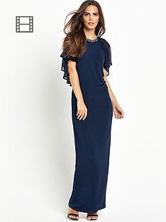 wallis-ink-cape-maxi-dress