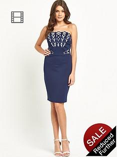 lipsy-lazer-cut-bandeau-dress