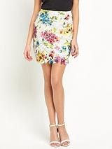 Keegan Flower Lace Pencil Skirt