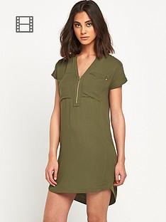 warehouse-zip-front-crepe-dress