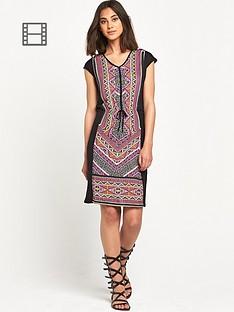 warehouse-aztec-print-t-shirt-dress